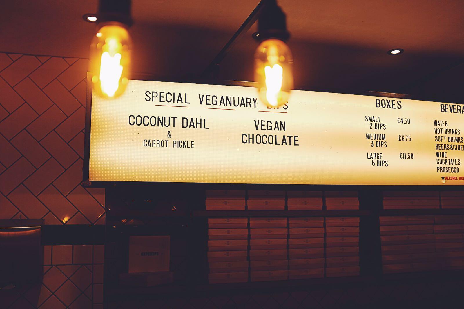 Hipchips, Soho Veganuary menu