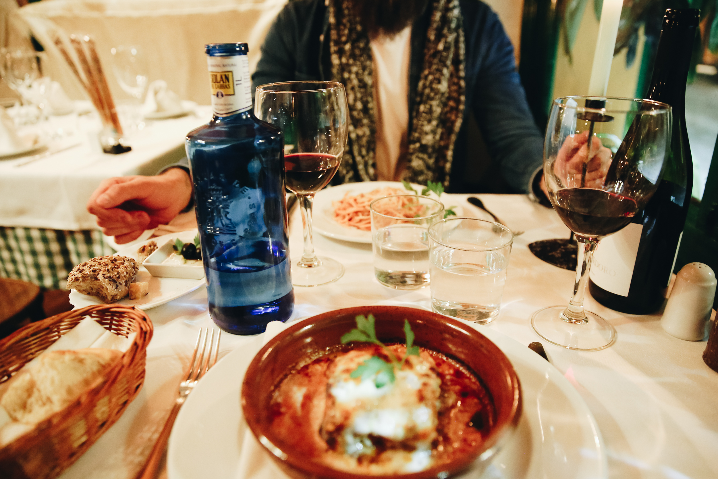 Dinner at Come Prima – said to be one of Madrid's best Italian restaurants