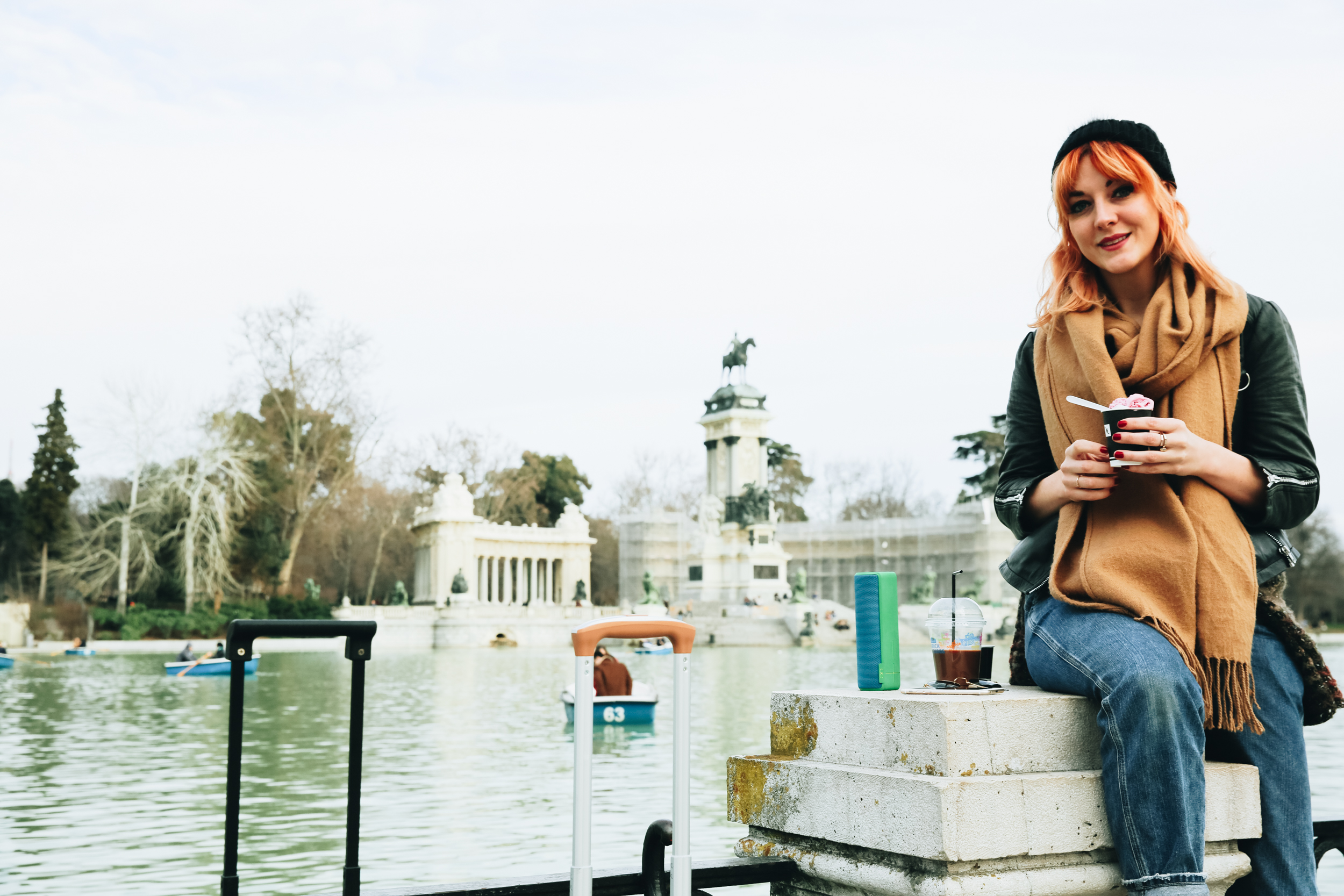 Sightseeing at Madrid's Retiro Park and testing out the UE BOOM 2 portable speaker
