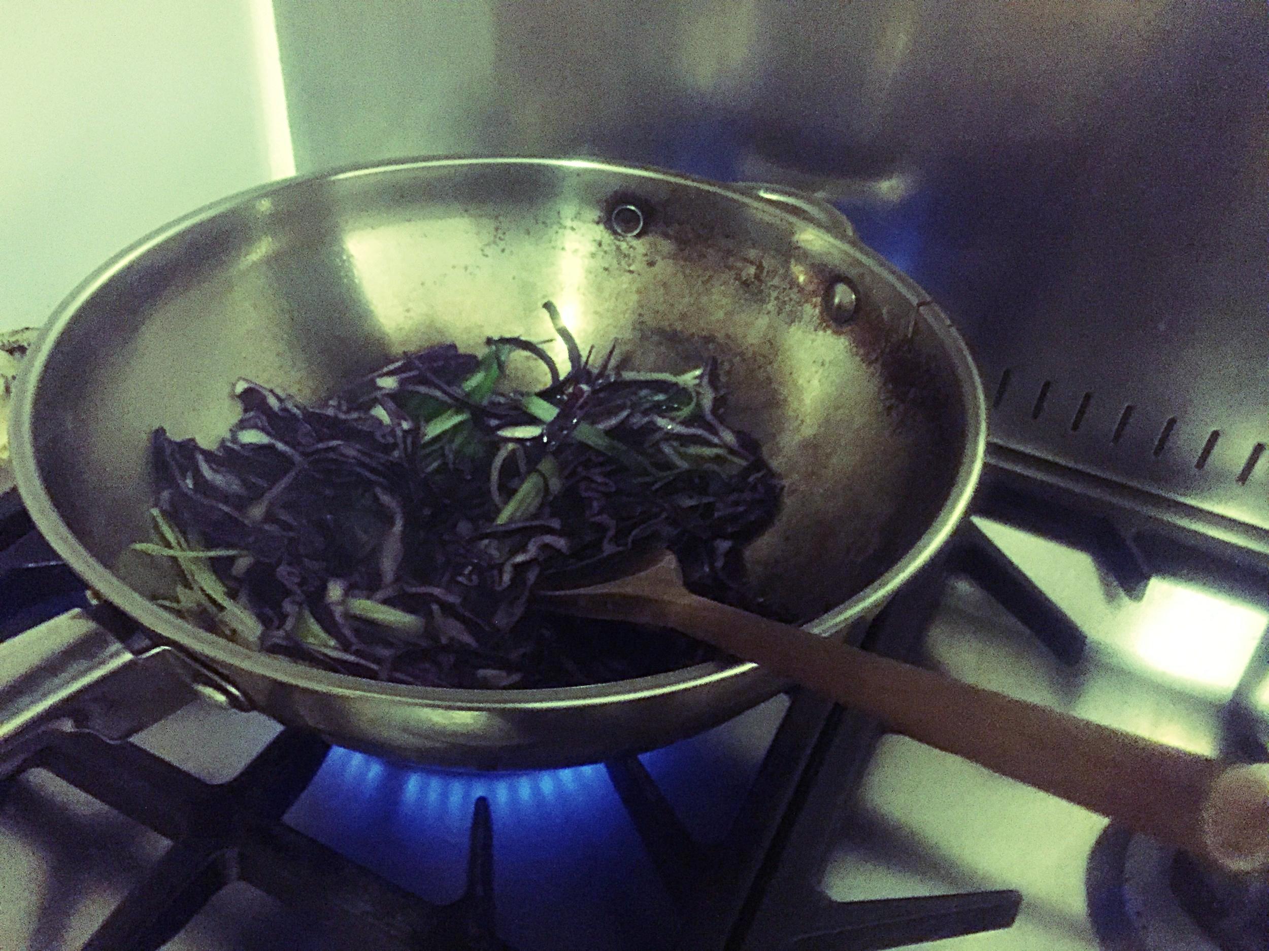 Stir Fry Veg in a Hot Wok