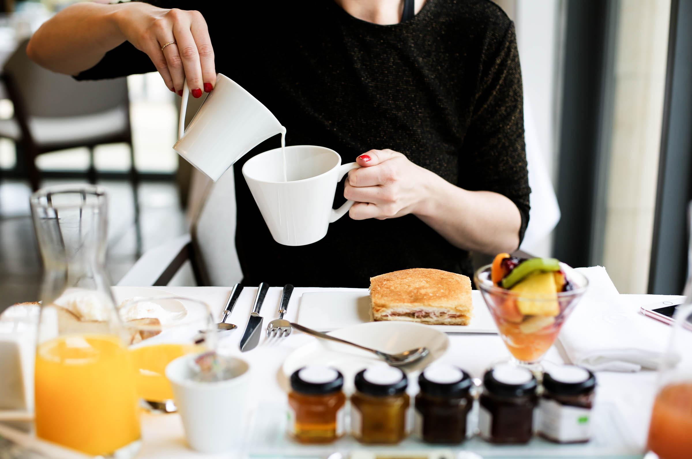 Breakfast at Domaine de Verchant. Croque Monsieur with truffle oil.