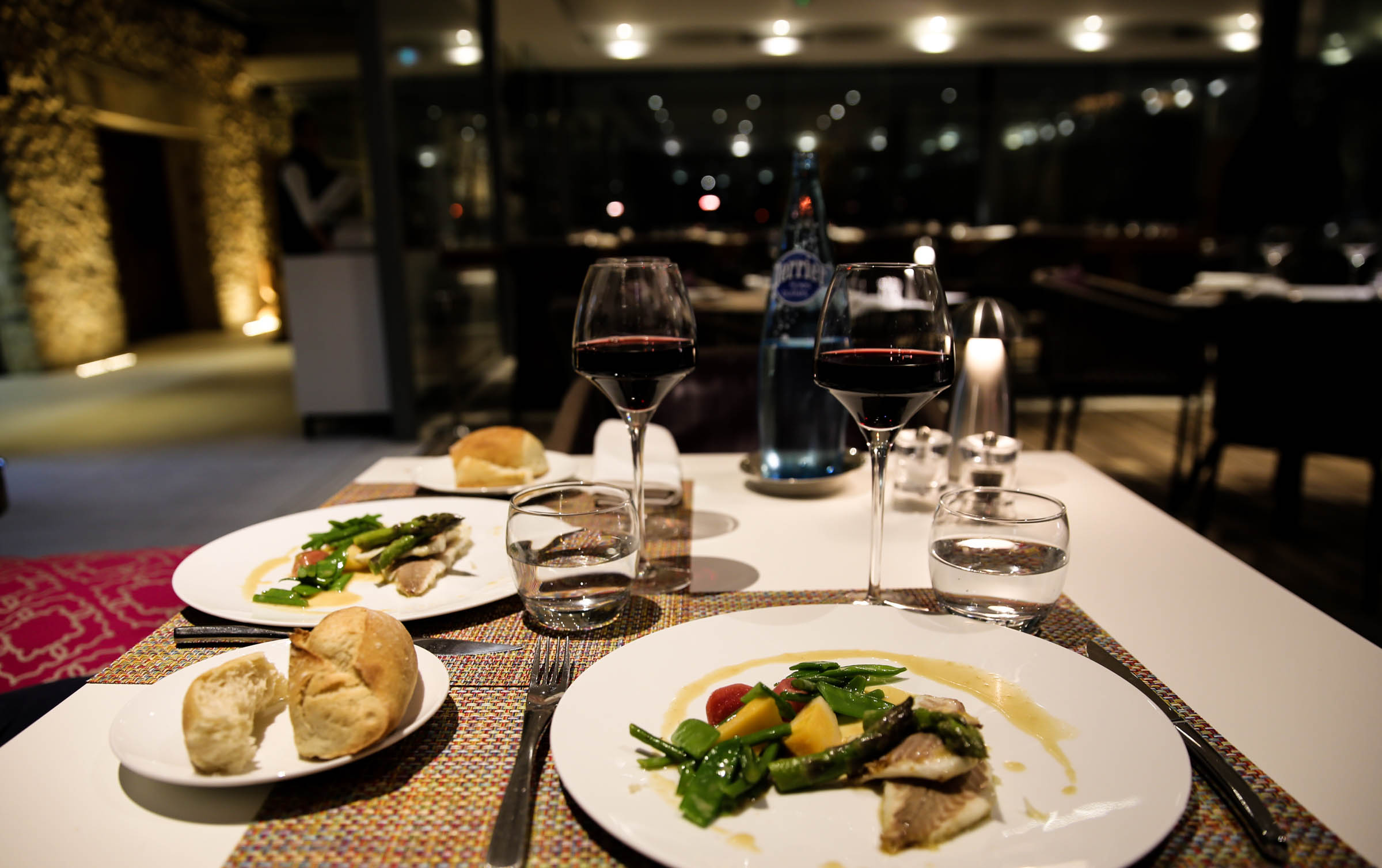 Sea Bream and vegetables with white butter. Wine: Cuvée 1582 Rouge 2016