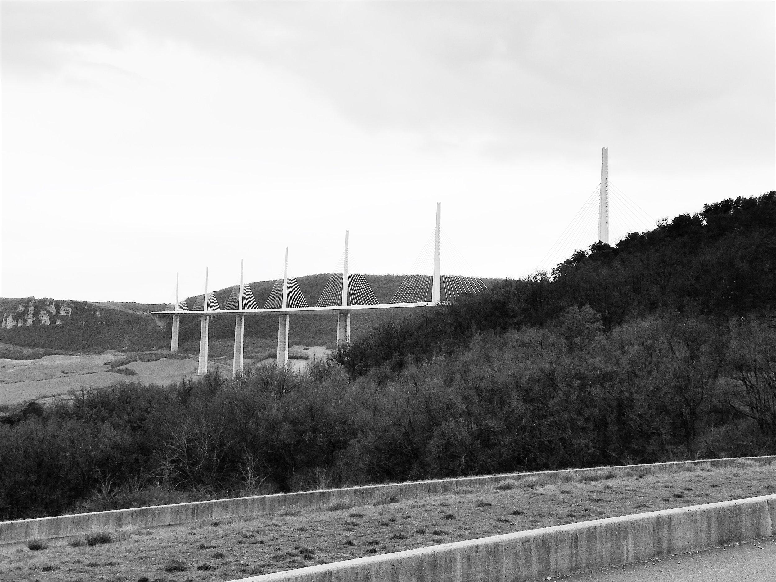 Millau Viaduct, France. March 2018