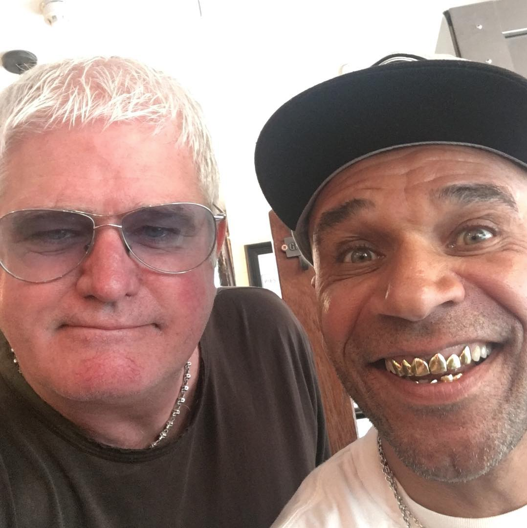 Piebury Corner Paul DJ Ironingboard and Goldie. Image credit:  @djironingboard