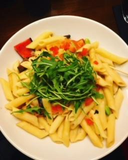 Roasted Vegetable Alfredo Pasta