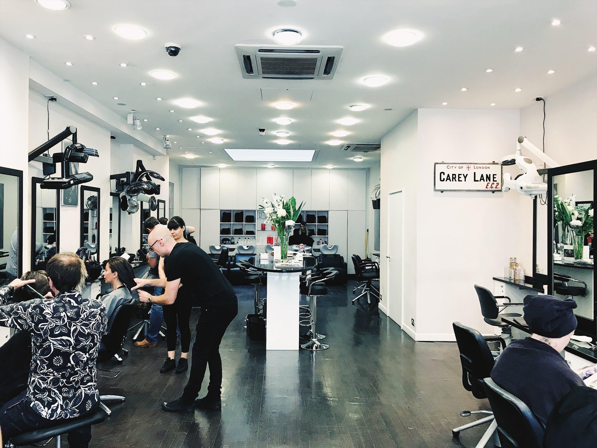 Steven Carey Hair team at work in their Mayfair salon