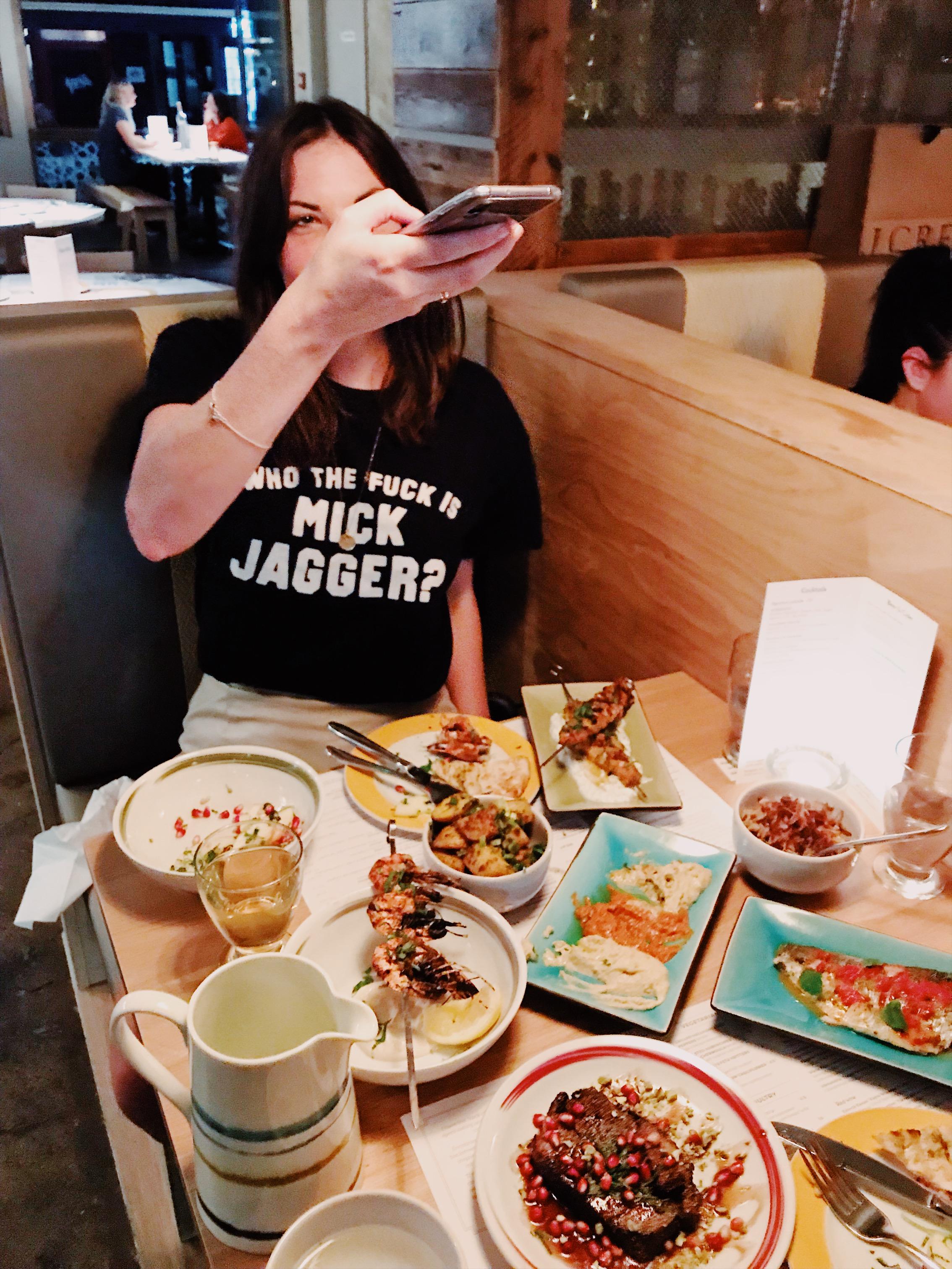 Zoe, doing her best food instagrammer impression.