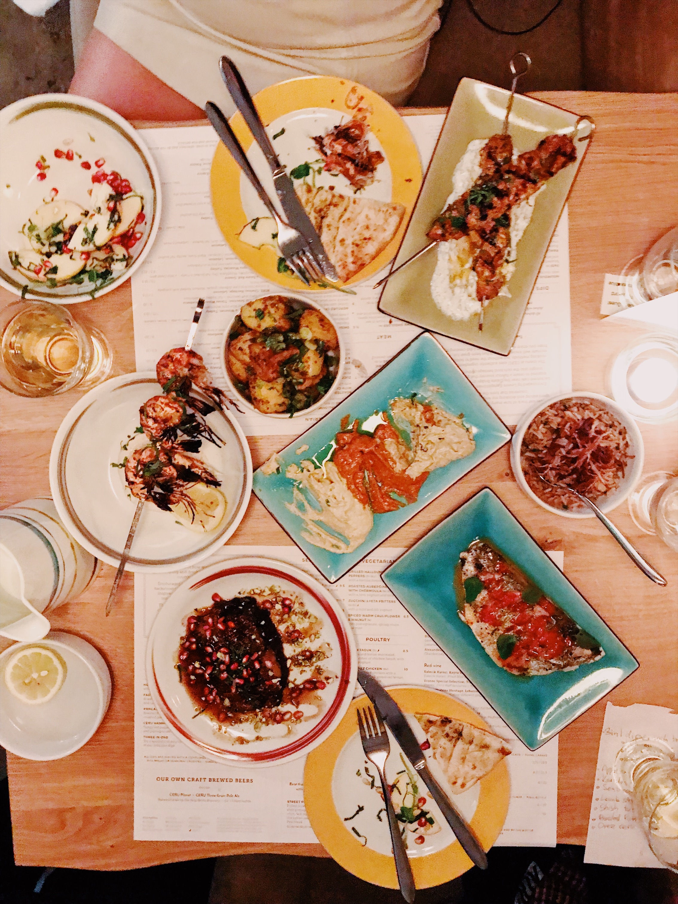 The perfect middle-eastern foodie spread for two