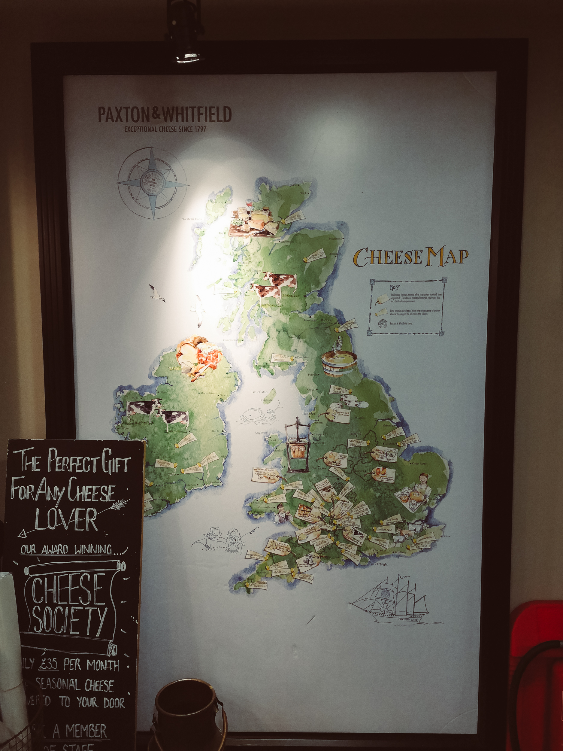 Lucie Loves Paxton and Whitfield cheese map