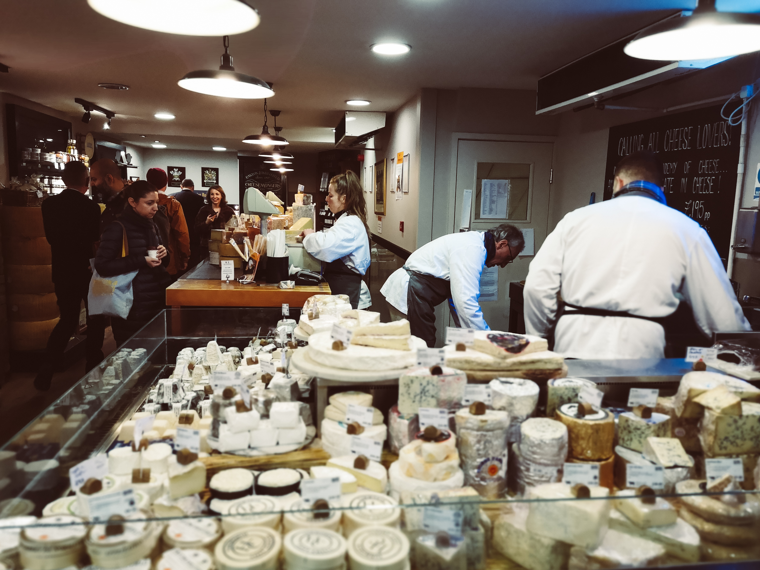 Lucie Loves Paxton and Whitfield cheesemonger