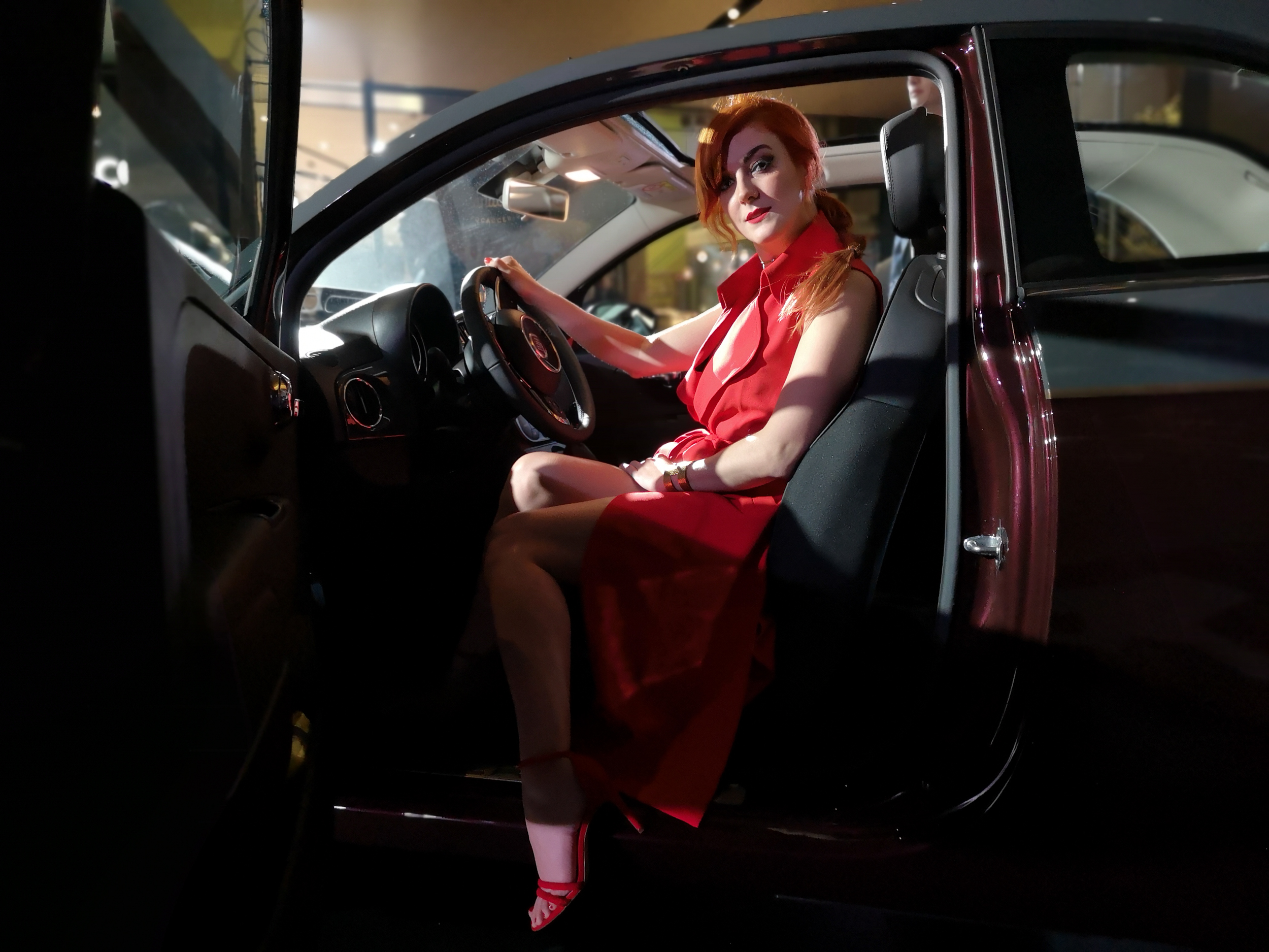 I'm sure there's probably some weird hashtag for redheads in cars… Here's my submission.