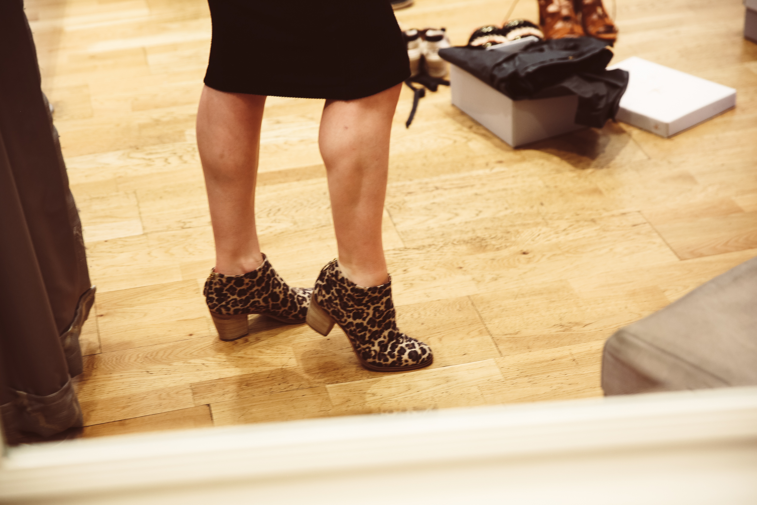 Casablanca Jag - jaguar print ankle boots
