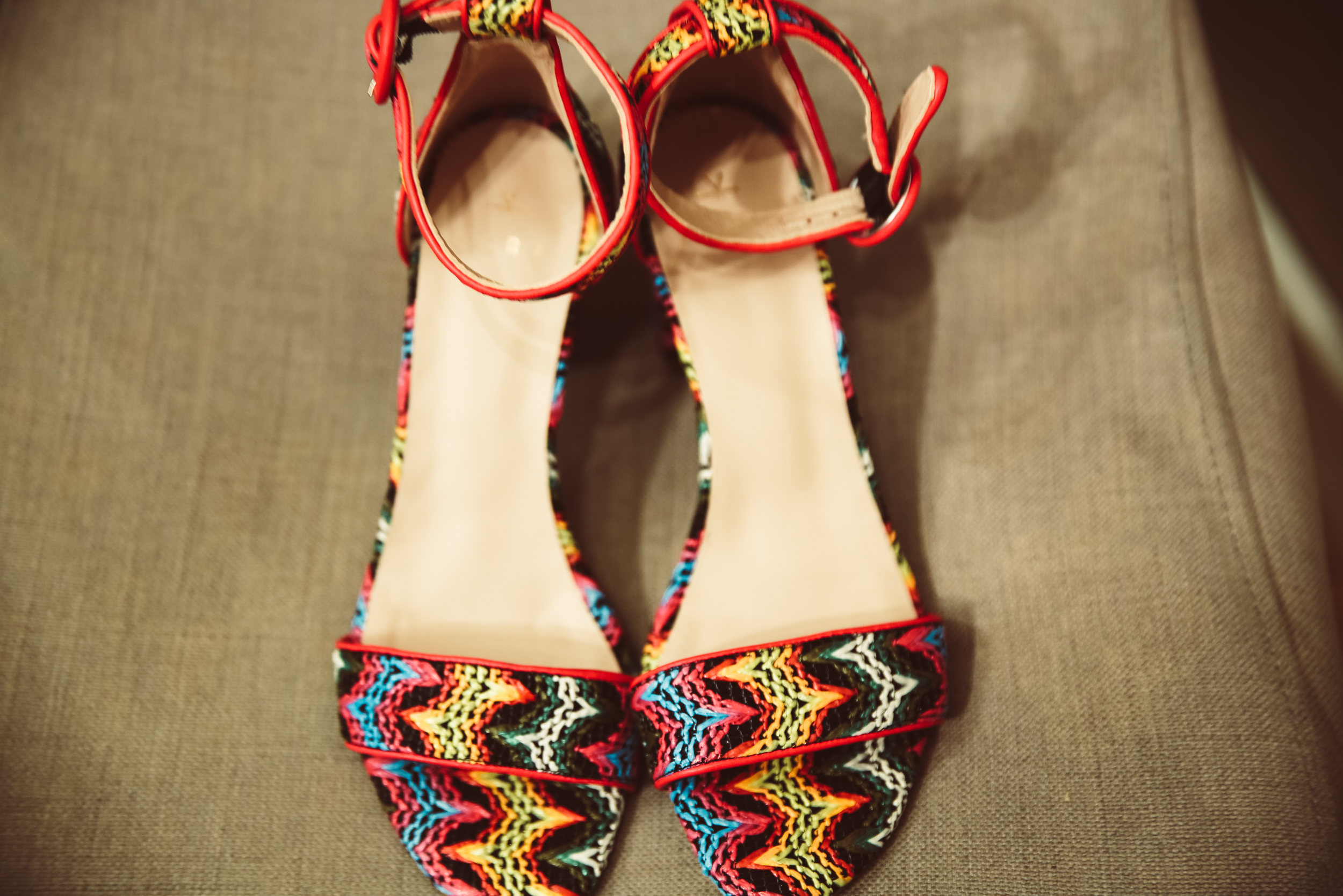ALOHA  coloured raffia buckle up block sandal, £120 (these were the pair that made me swoon! The team kindly gifted me a pair to take home with me, and the shoe comments have not stopped rolling in since. Yee haw!)