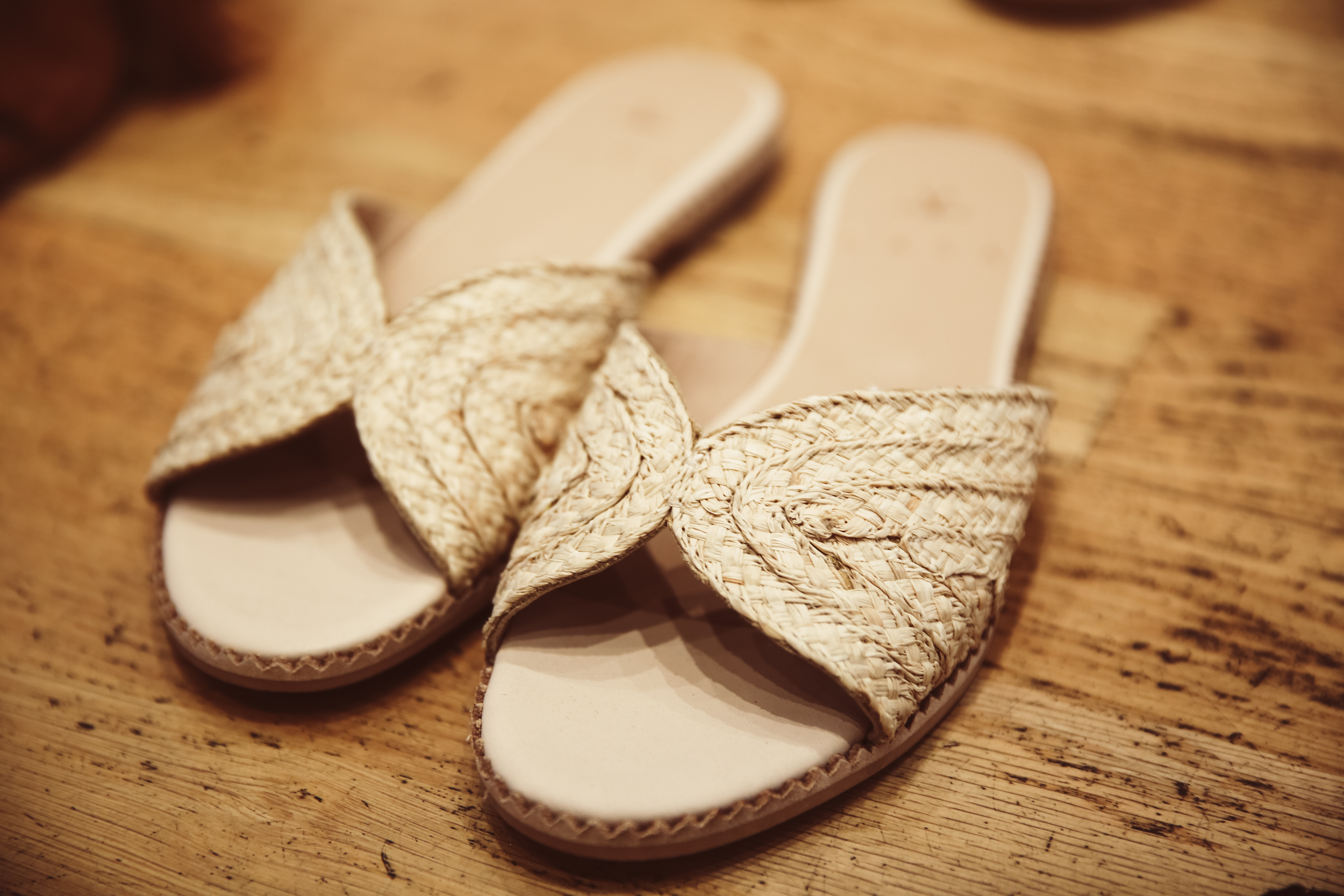 These  APPLE  raffia slide slip on sandals also come in black, and would be a great holiday evening shoe!