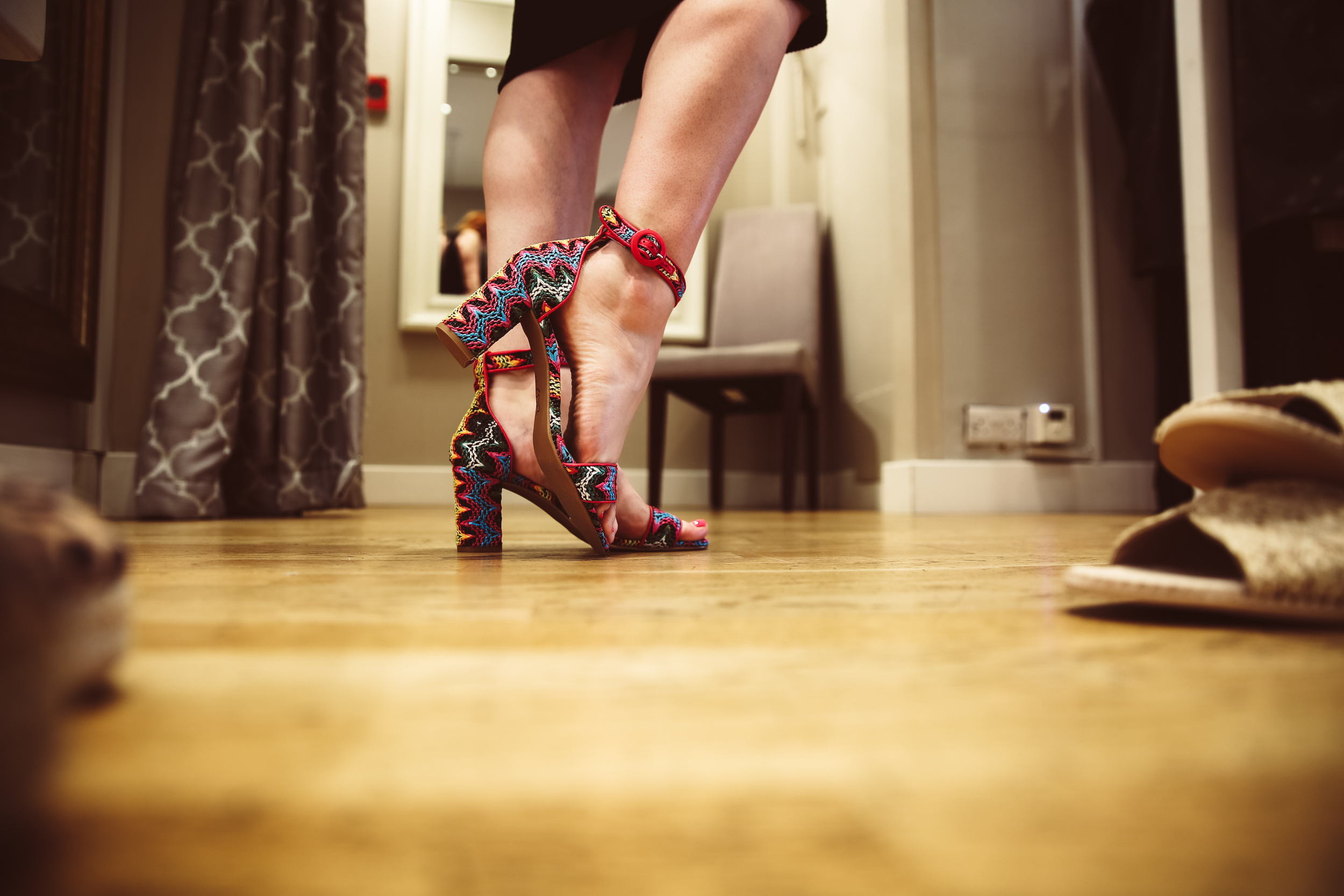 Quite possibly the funnest and most-colourful pair of Italian heels I've ever owned!