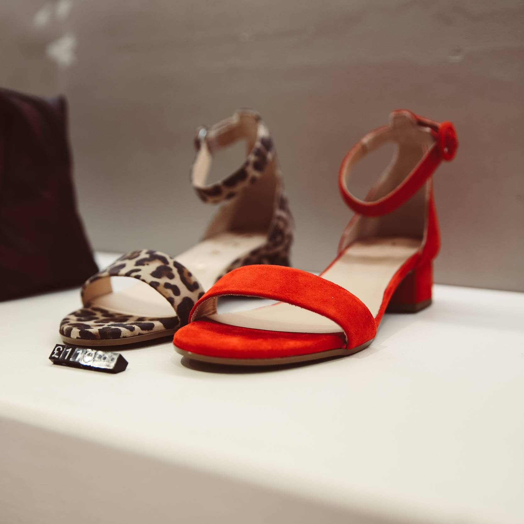 It was love at first sight when I spotted these  red suede Cobra Ros sandals in CARA Richmond.  They were £110 - but are now on sale for £55, whilst stocks last!