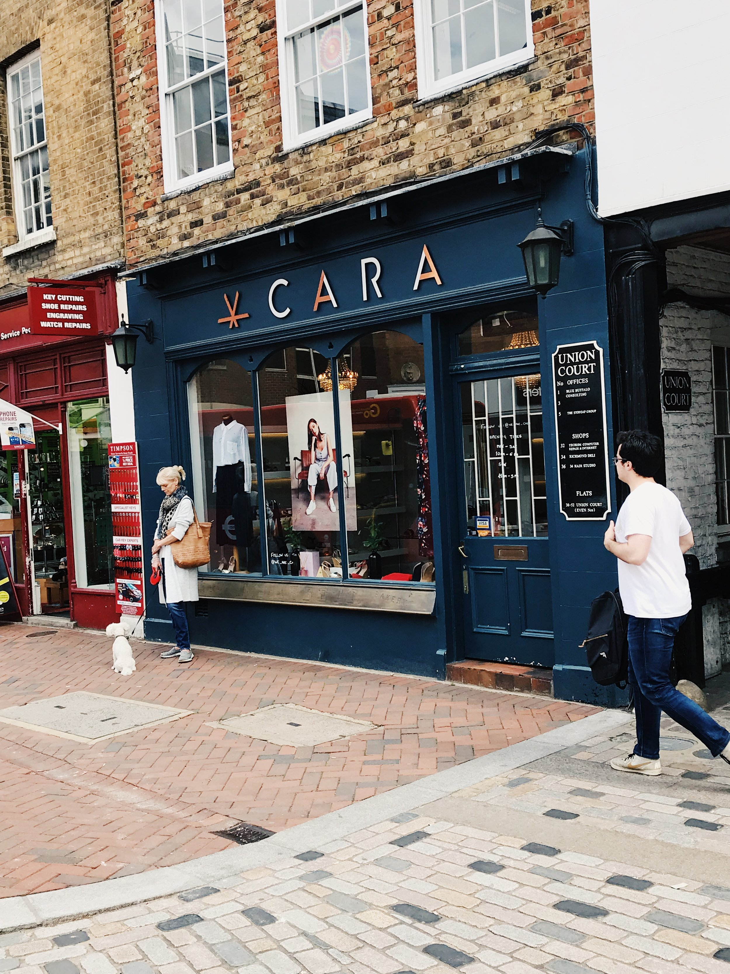 CARA is, just a short stroll from Richmond train station