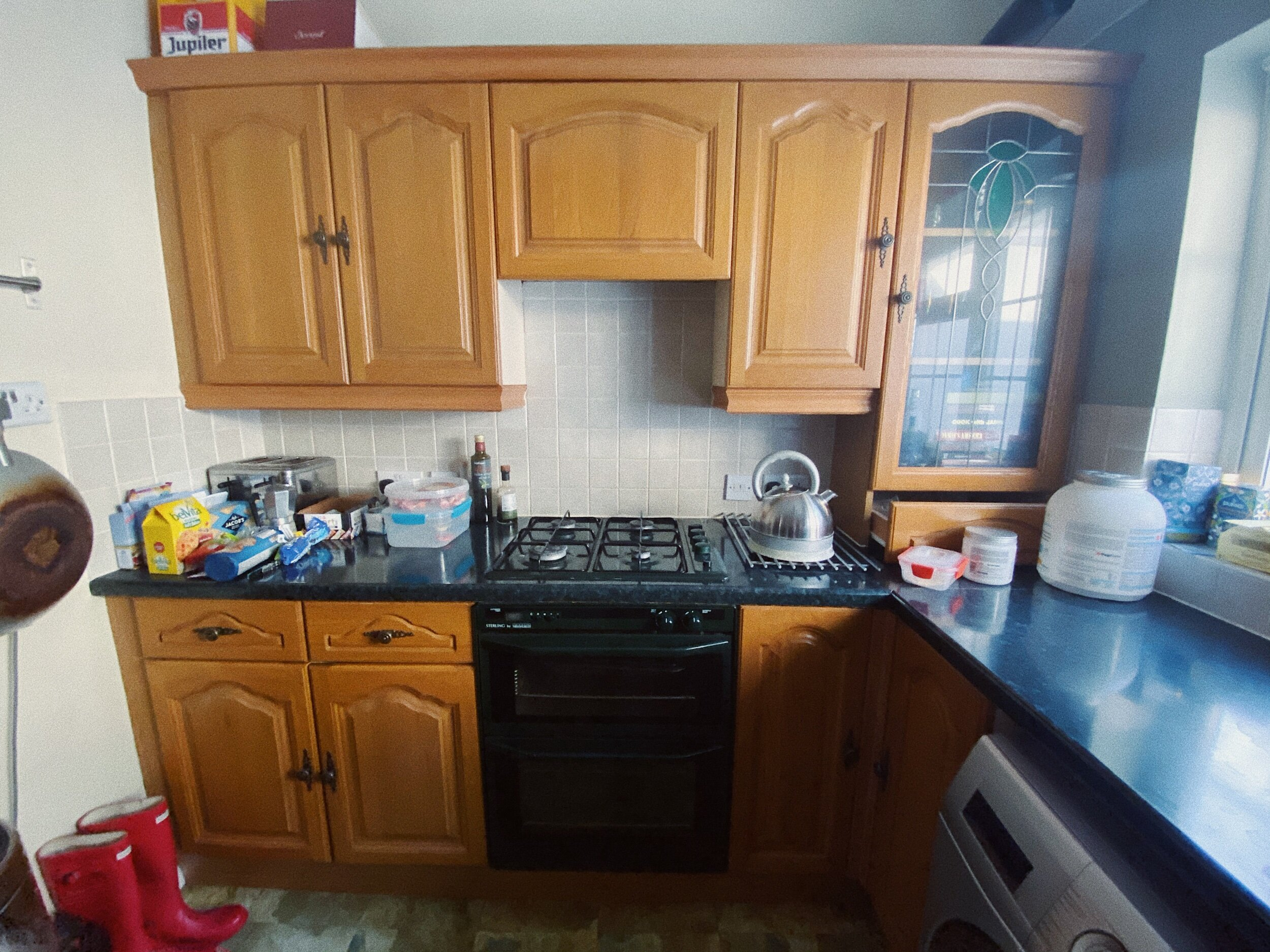 Before And After A Small Kitchen Makeover On A Budget In Collaboration With Valspar Paint Uk For The Floor And More Ad Gifted Items Lucie Loves Uk Lifestyle Blog