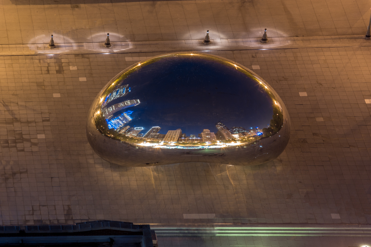 Look Down on Cloudgate at Night.jpg