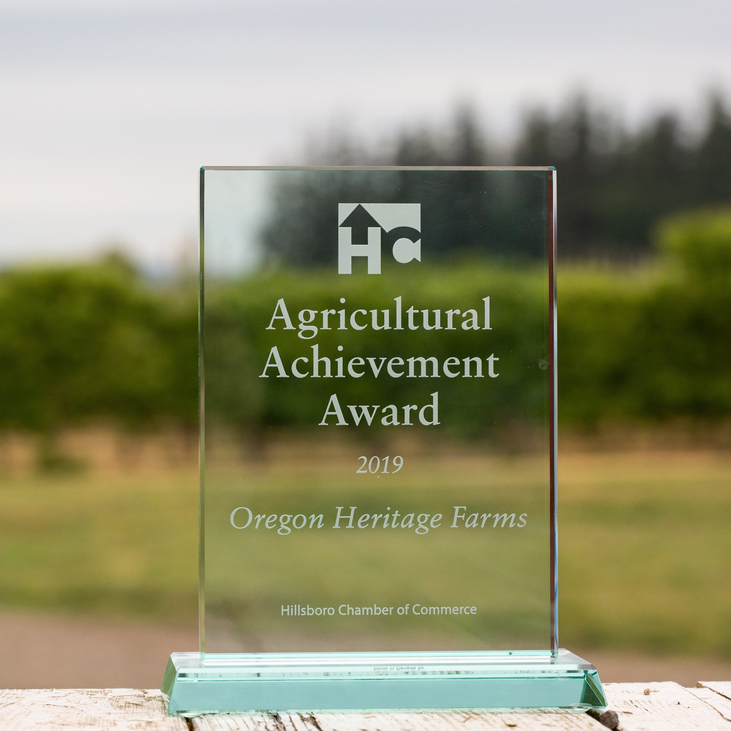 Oregon Heritage Farms Award Photo