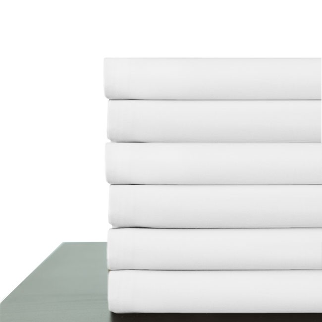 300 Thread COunt Cotton/Poly Blend Flat Sheets Starting at $22.56