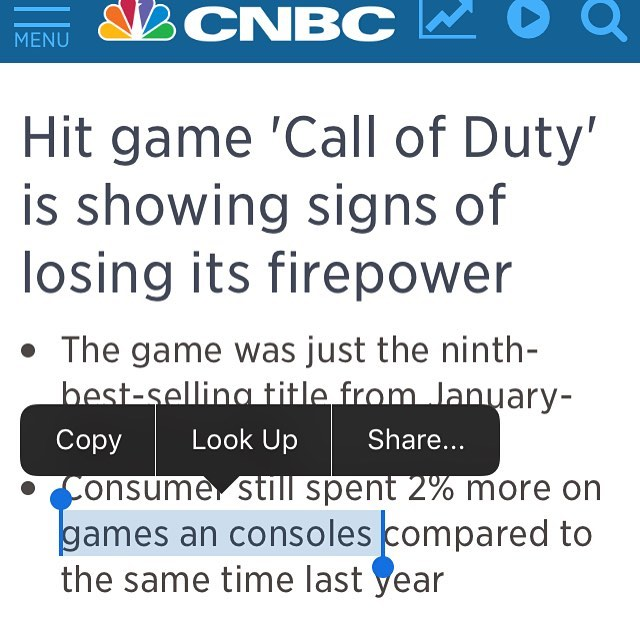 "You forgot the ""d."" Source: CNBC"