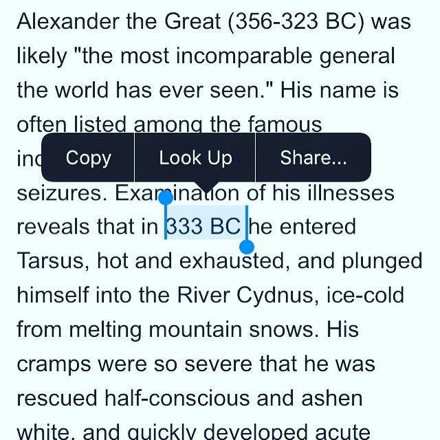 Dude died in 323 BC...was he resurrected 10 years later? Source: Pubmed