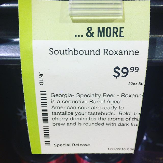 "Tantalize your taste buds and destroy your spellcheck with this sour ""alre"" from Southbound."