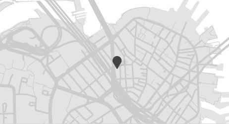 We illustrated a map of downtown Boston to emulate the minimal tone of the brand.