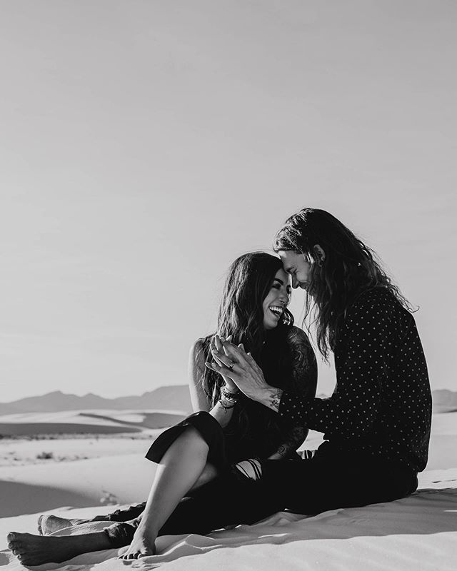 I'll never be able to decide which of the two of them has better hair. They're both way too beautiful it's scientifically impossible to take a bad photograph of them. ••• •• • #rachelveltriphotography #couplesgoals #cuties #science #whitesands #destinationphotographer #destinationphoto #adventurecouplesphotographer #elopementphotos #elopementphotographer #newmexico #newmexicoelopement #photographer #whitesandsnationalmonument #adventuremore #couplephotography #coloradodestinationweddingphotographer #dirtybootsmessyhair #lookslikefilm #muchlove_ig #wanderingweddings #wanderingphotographers #adventureinstead