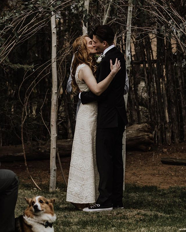 More corgi's at weddings please + thank you ••• •• • #rachelveltriphotography #dogsatweddings #thebest #corgicutie #destinationweddingphotographer #coloradodestinationweddingphotographer #coloradoelopementphotographer #travellingphotographer #willtravelfordogs #destinationphotographer #adventuremore #santefe #newmexicowedding #newmexicophotographer #wanderingweddings #junebugweddings #dirtybootsmessyhair #rockymountainbride #lookslikefilm #lookslikefilmweddings #authenticlovemag #muchlove_ig #elopementlove