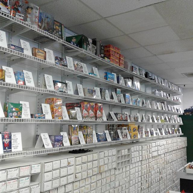 Our sports wall is nice and full of all the newest and hottest releases! Stop in today and get the perfect thing for your card collection! #SportsCards #Baseball #Topps #Panini #Football #Basketball