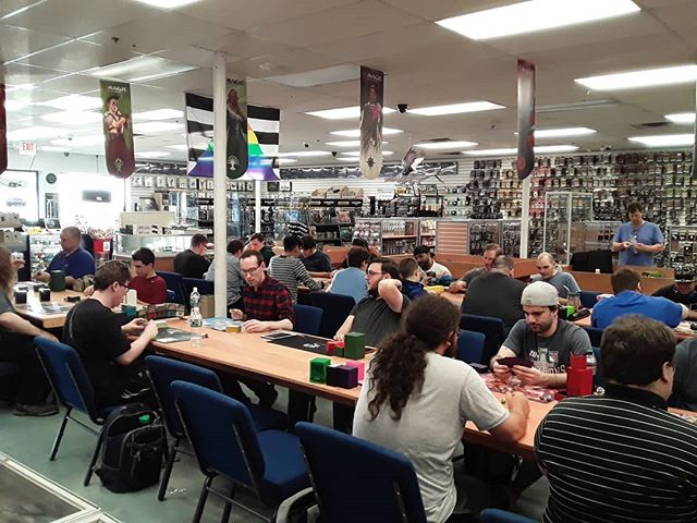 24 players for Friday Night Magic tonight! We have 13 players drafting Modern Horizons and 11 players form Modern! #FridayNightMagic #FNM #Draft #Modern #MTGMH1 #MagictheGathering