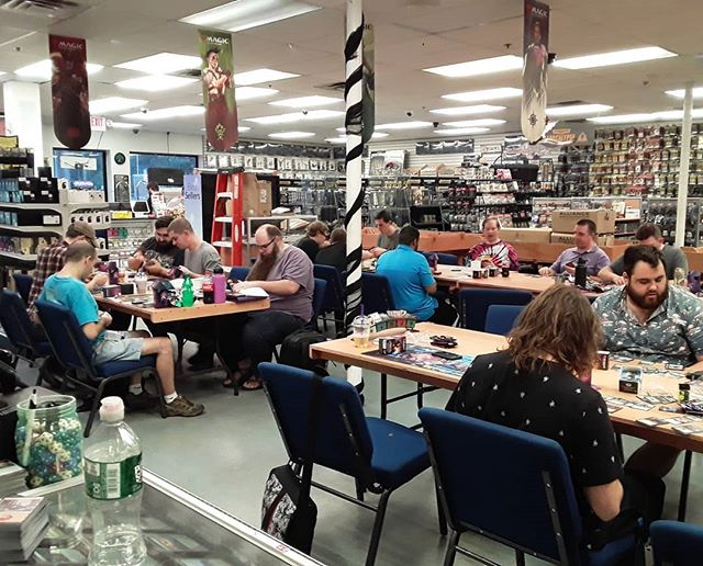 20 players for our 6:00 event. We have 2 more events tomorrow at 1:00pm and 6:00pm! #ThroneofEldraine #Prerelease #MTG