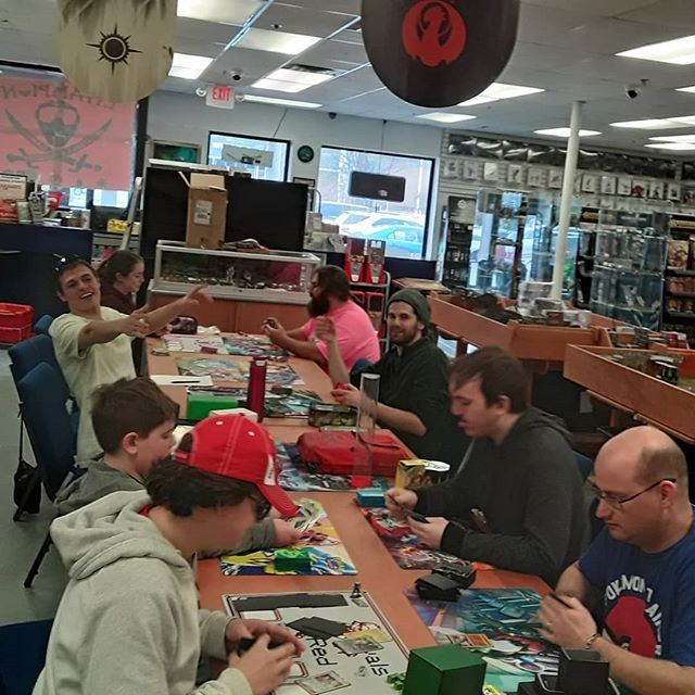 We had 9 players for Pokemon today! If you're interested in learning or just coming out and playing, we have a great group of players every Sunday at 1:00!