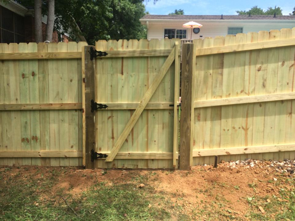 wood privacy fence gate