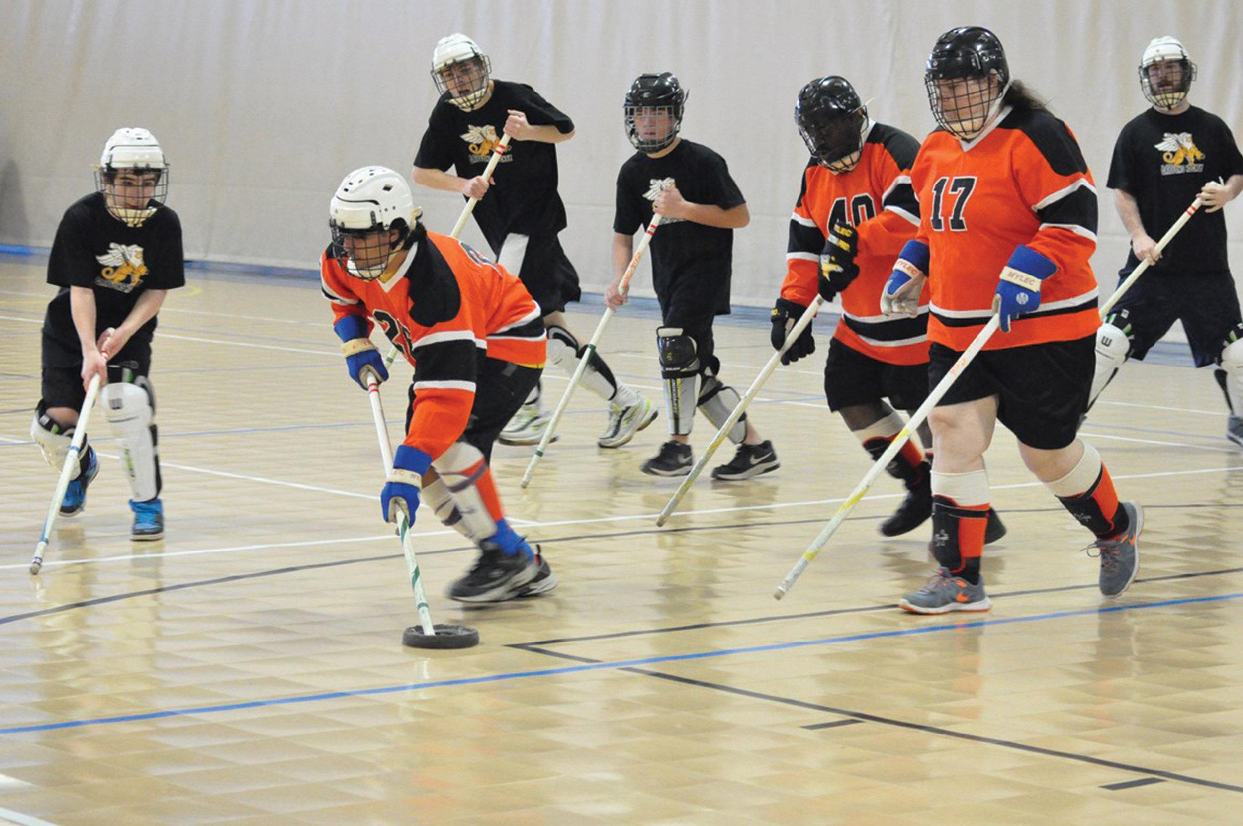 St. Joseph vs. Jackson County Parks & Rec in floor hockey at a tournament in Nebraska