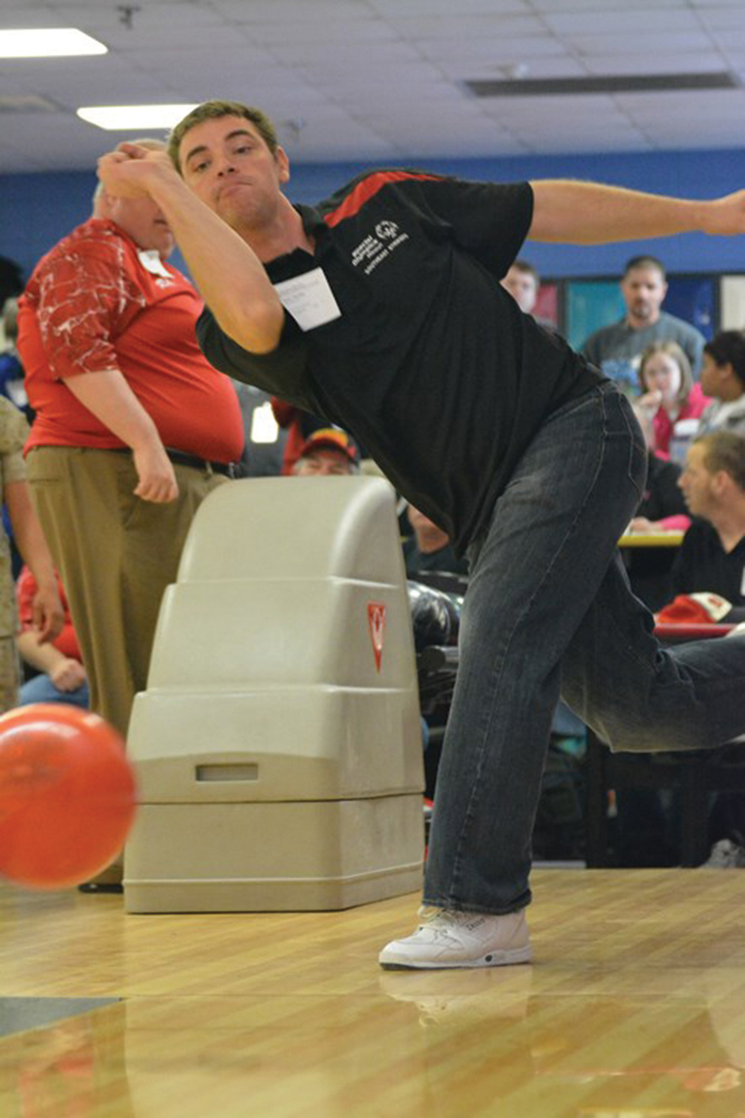 Bowling competition at State Indoor Games at Daugherty Bowl on Fort Leonard Wood post