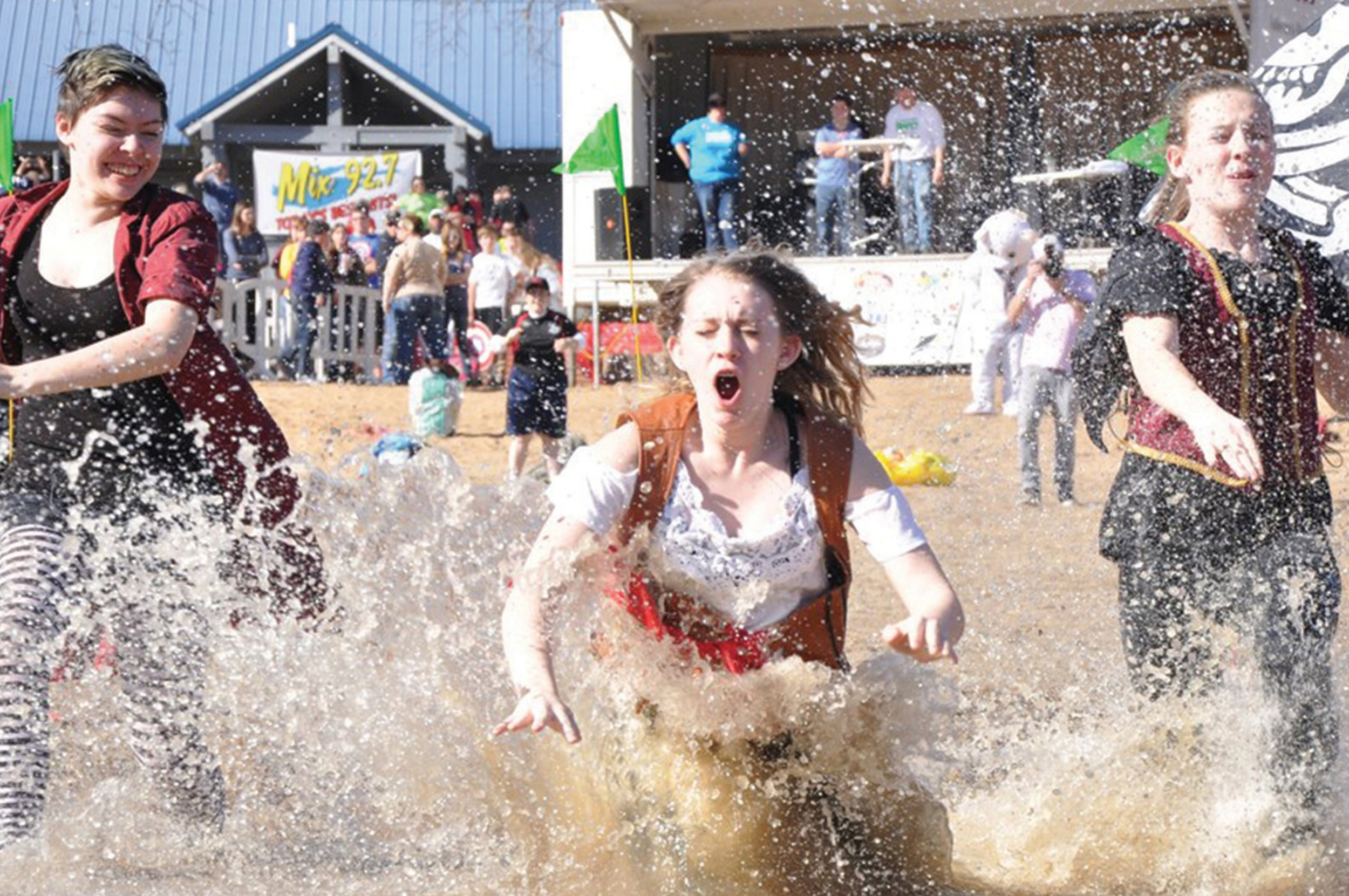 Taking a chilly dip at the Osage Beach Polar Plunge