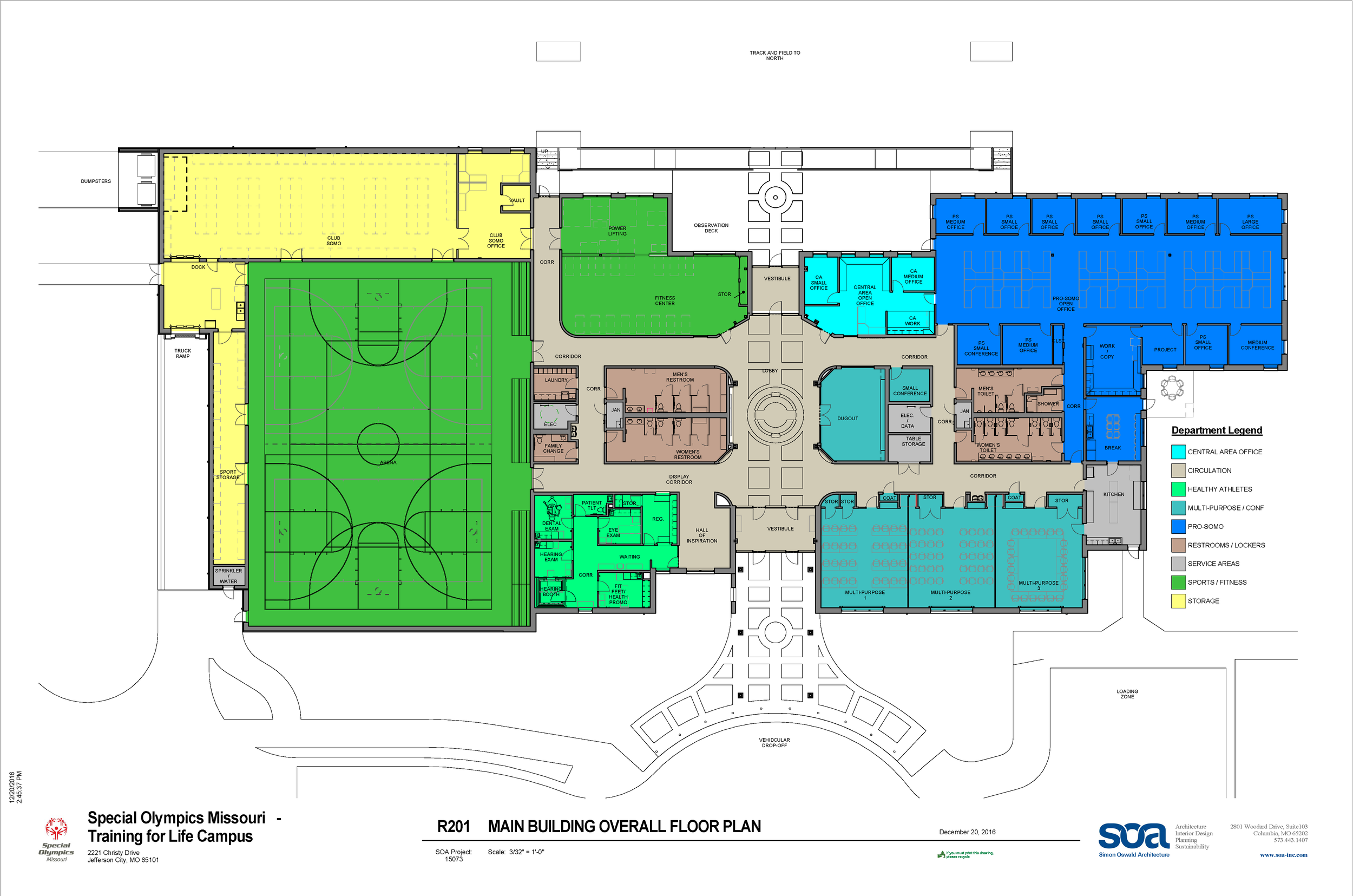 34,000 sq.-ft. facility - What the floorplan could look like for the Training for Life Campus