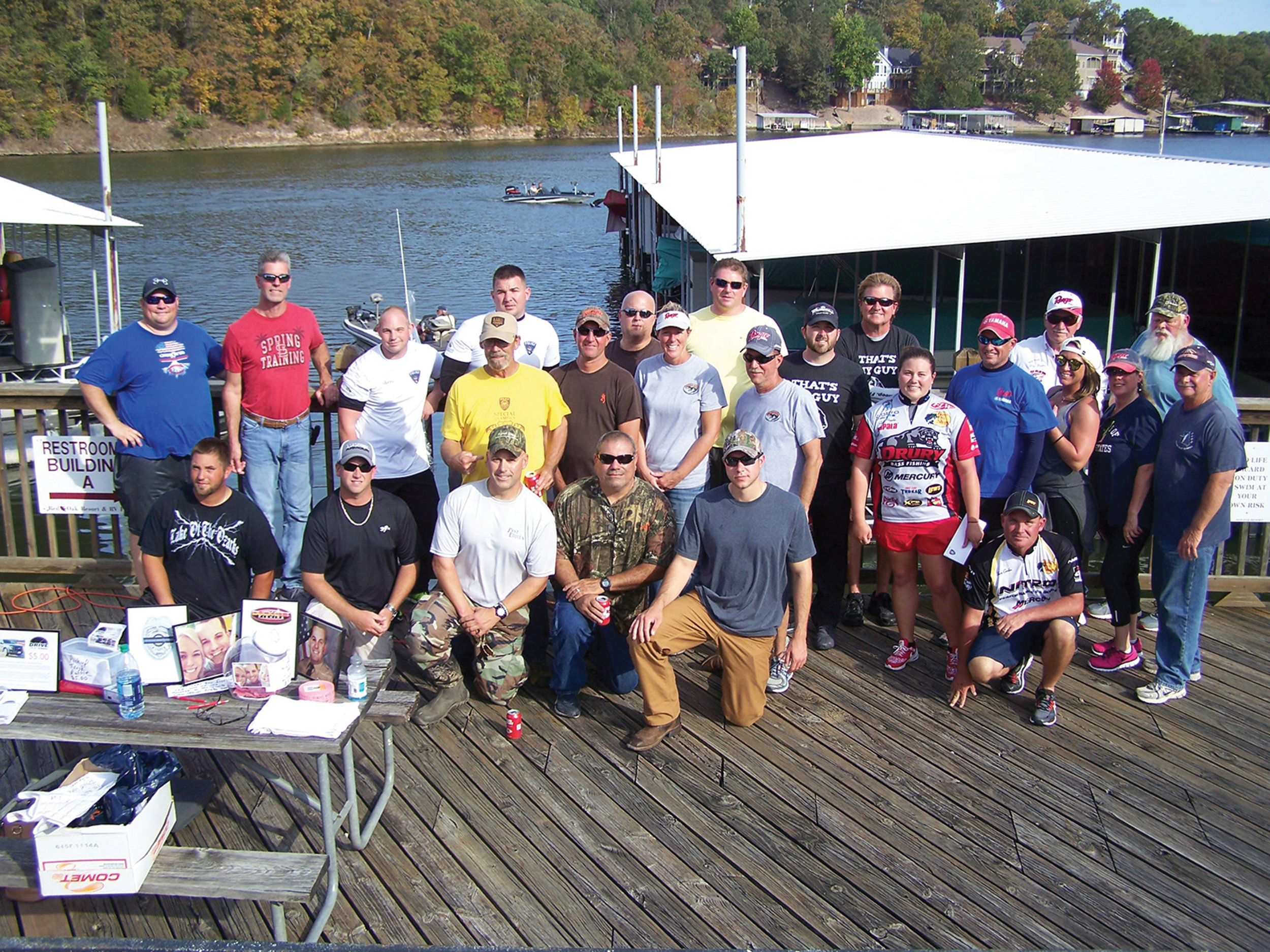 The first Anglin' for the Athletes fishing tournament at Bull Shoals Lake raised more than $3,400.