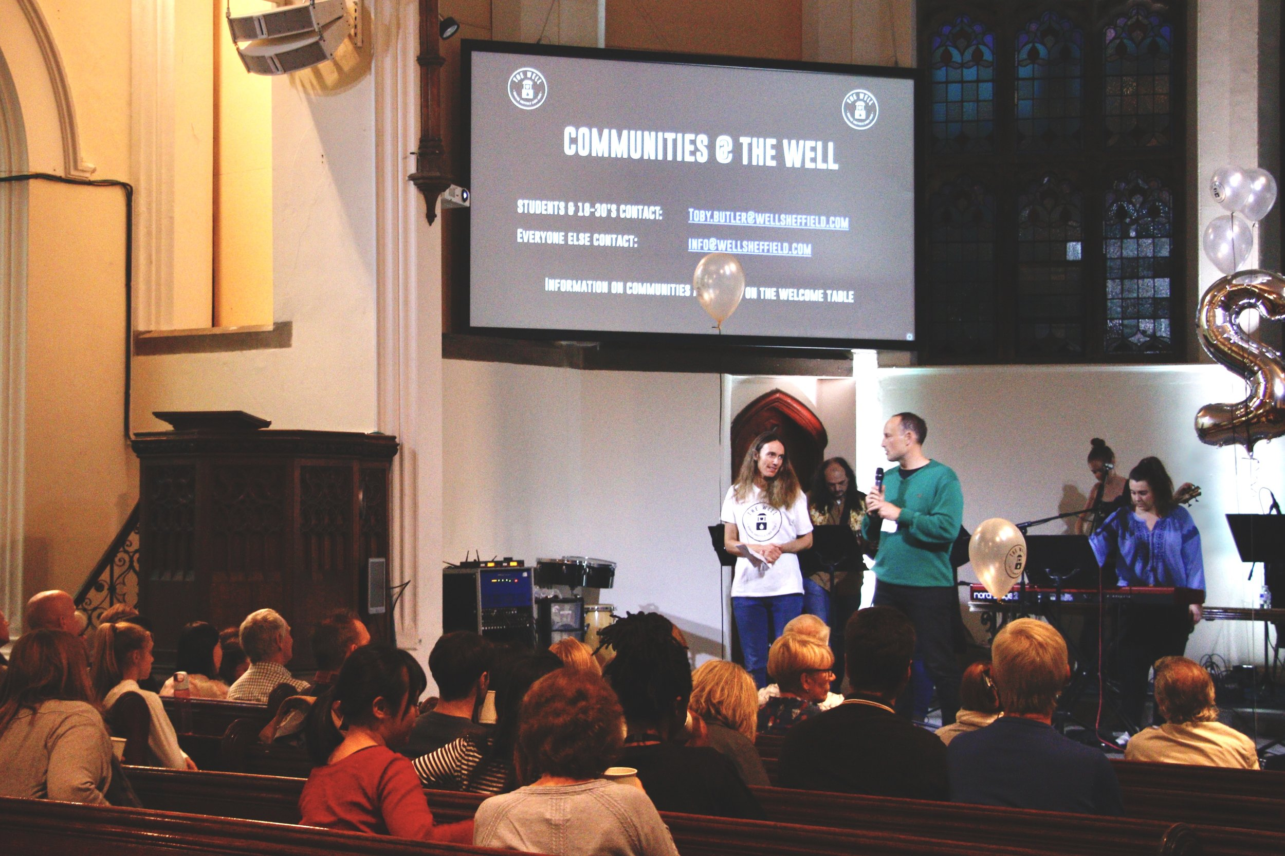WELCOME - The Sunday gatherings will start with a greeting and possibly some notices about things that are happening at the Well in the coming weeks (there's lots you can get involved in).