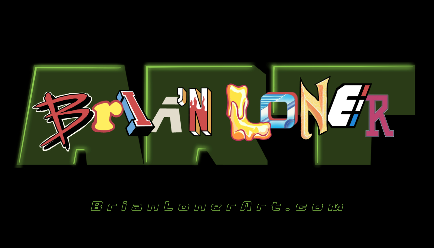 My logo is made up of fonts that I recreated from some of my favorite Nintendo video games. Can you guess the 10 games from each individual letter? Hint: All are NES but one, and the L is an Atari Lynx game. Go to my Instagram link and show off your skills.