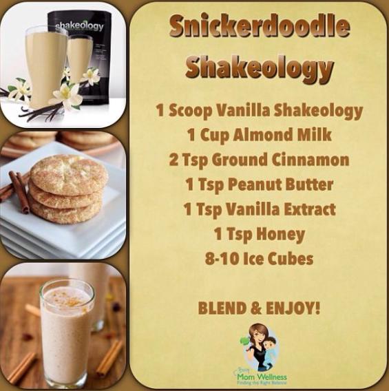 Vanilla Shakeology recipe