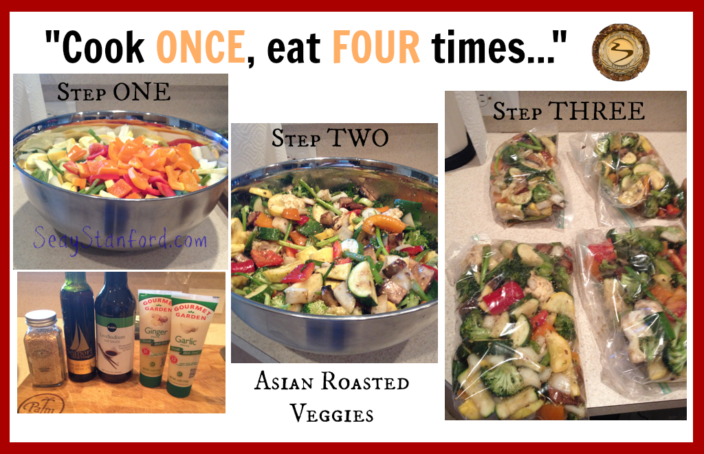 Asian Roasted Veggies Four Servings
