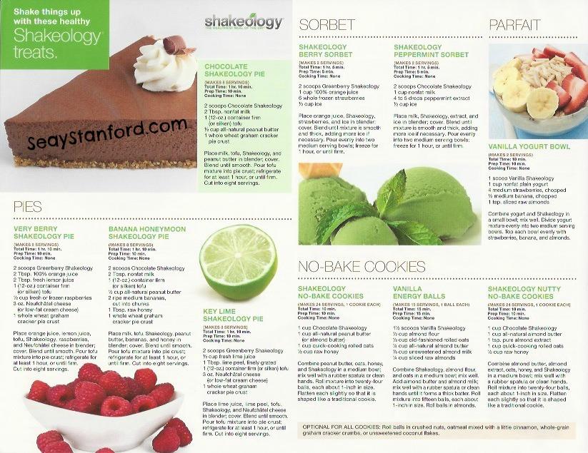 Shakeology Frozen Treats, Shakeology Pudding, Shakeology Bars