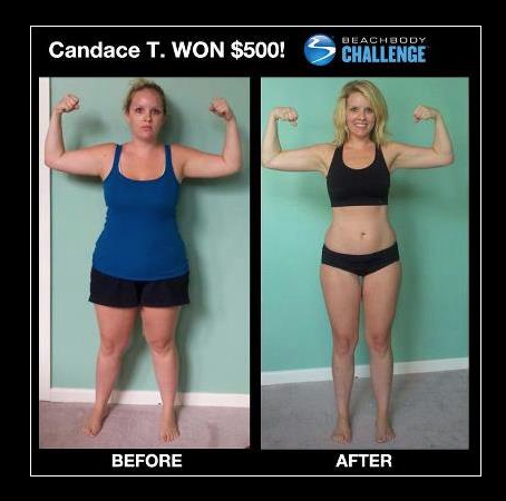 This is Candace. She is a mom of two boys and won $500 after participating in my April 2012 Challenge group.