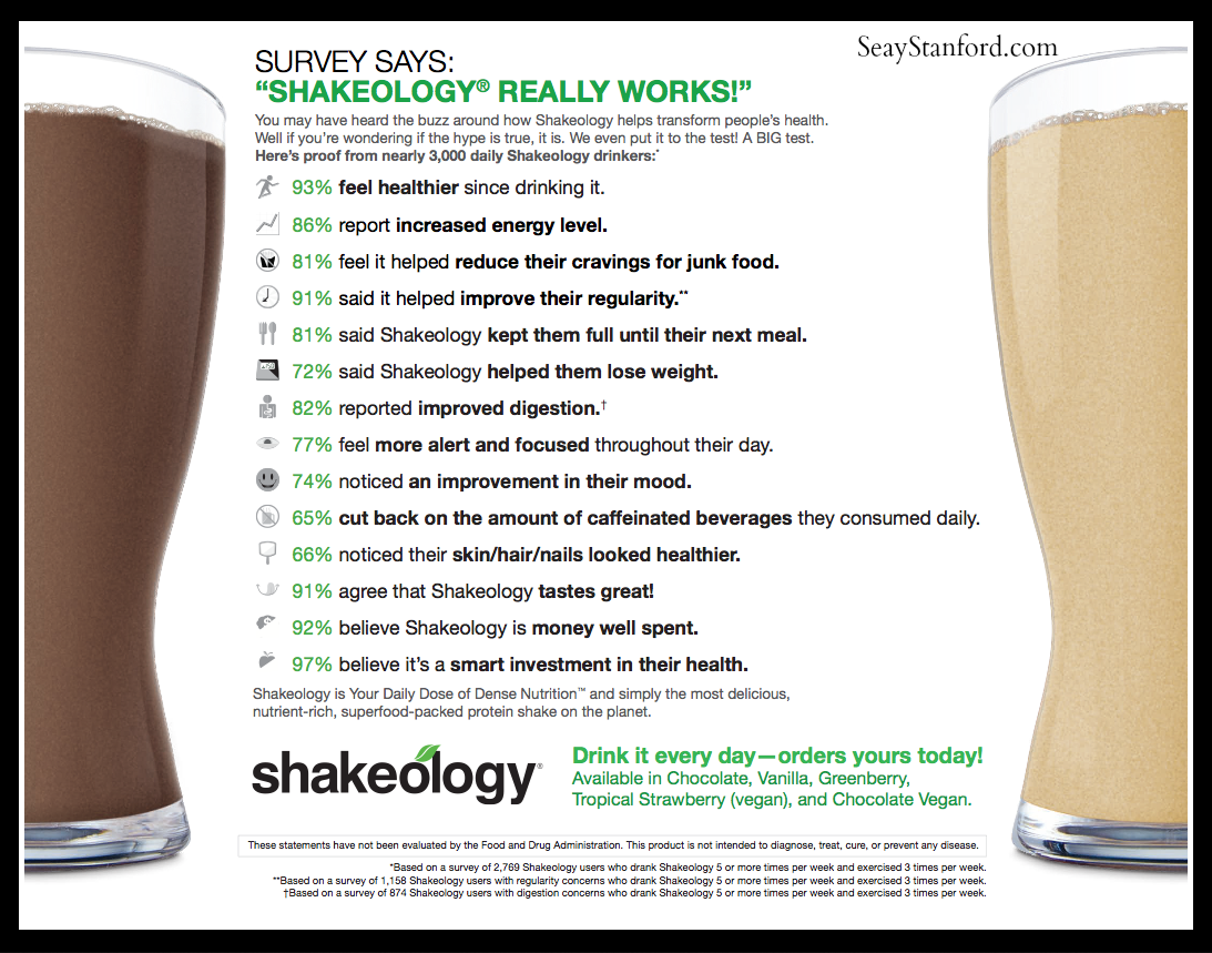 Shakeology Health Benefits Seay Stanford