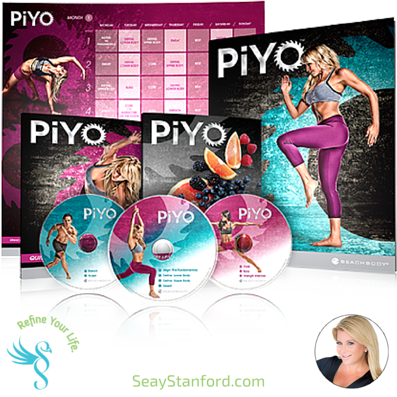 Chalene Johnson PIYO Low Impact High Intensity Fitness Truthfully, I do not LOVE exercise. Sure, I love I how I feel when I'm done, but generally, exercise really HURTS my body and exacerbates my aches and pains and I don't look forward to it. When I start, I just want to get it over with. Being a contact-athlete for over 30 years, I have numerous back, knee and wrist injuries. Jumping-type cardio or pounding make my joints HURT terribly leaving me pretty limited with the level of intensity of exercise I can do. I think a lot people my age are overwhelmed by exercise and dread it because in many cases, it aggravates our injuries beyond enjoyment or we are so out of shape, our extra weight doesn't feel that great when we are jumping around. Because of all my own injuries and limitations, I think I am MORE EXCITED than most, about PIYO! Primarily because, it's a LOW IMPACT- HIGH INTENSITY at home fitness program. No weights, no jumps, just full throttle cardio, strength and flexibility training while you burn calories and sculpt your body. OMGGGG that sounds PERFECT for me!! (What about you???? ) If you are like me, and aren't one of those people that get excited over high impact fitness, yet want results, then join me in my very first exclusive PIYO Facebook support and motivation group! You get the tools, I provide the support and WE will both look forward to our daily FITNESS, together!