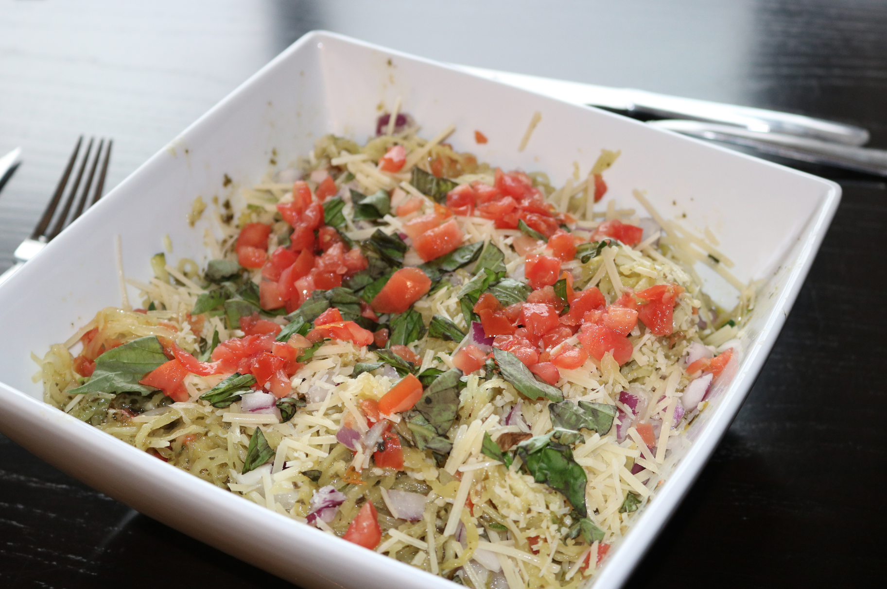 Pesto Spaghetti Squash 2B Portion fix recipe